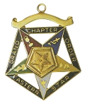Order of the Eastern Star Grand Chapter Associate Patron Officer Jewel RES-56