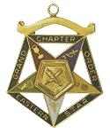 Order of the Eastern Star Grand Chapter Secretary Officer Jewel RES-59