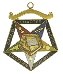Order of the Eastern Star Grand Chapter OES Flag Bearer Officer Jewel RES-74