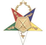Order of the Eastern Star Sentinel Officer Jewel - 2 1/2