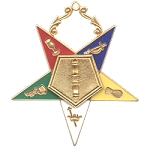 Order of the Eastern Star Associate Conductress Officer Jewel - 2 1/2