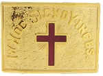 Knights Templar Passion Cross Belt Plate RKT-31