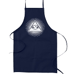 Navy Blue Shining Triangle All Seeing Eye Masonic Cooking Kitchen Apron