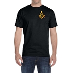 Embroidered Square & Compass Black T-Shirt