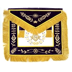 Grand Lodge Member Apron with Course Fringe