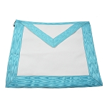 Basic Master Mason Apron with Light Blue Border