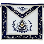 Past Master Apron with Embroidered Border