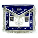 Fringed Past Master Apron with Embroidered Border
