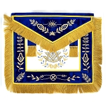 Grand Lodge Past Master Apron with Blue Velvet