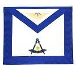Past Master Apron with Gold Accents