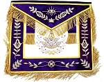Grand Lodge Past Master Apron with Purple Velvet