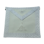 White Past Master Apron with All Seeing Eye