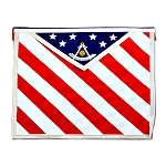 American Flag Past Master Apron