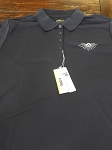 Navy Blue XXL Masonic Ladies' Micro-Piqu Polo with Embroidered All Seeing Eye