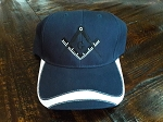 Navy Blue with White Square & Compass Hat