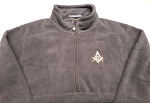 Navy Blue X-Large Quarter Zip Fleece Jacket with Embroidered Square & Compass