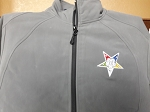 Grey Women's Large Zip-Up Microfleece Softshell Jacket with Embroidered OES Star