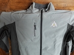 Charcoal/Dark Charcoal X-Large Zip-Up Microfleece Softshell Jacket with Embroidered Shining Square & Compass
