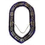 Grand Lodge Chain Collar with Rhinestones and Purple Velvet