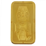 Master Mason Gold Bar Coin with Protective Plastic Case - 2