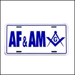 Ancient Free & Accepted Masons License Plate