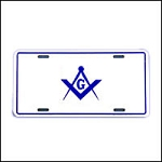 Square & Compass License Plate