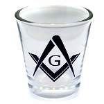 Square & Compass Shot Glass