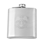 Laser Engraved Scottish Rite 32nd Degree Eagle 6 Ounce Flask
