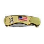 Abraham Lincoln Commemorative Presidential Gold Knife - 2 7/8