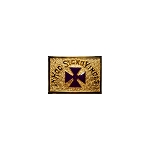 Purple Templar Cross Gold Finish Belt Buckle