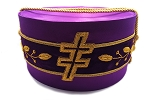 33rd Degree Scottish Rite Purple Silk Hat with Patriarchal Cross and Vinework