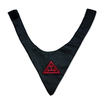 Royal Arch Triple Tau Black Satin Cravat
