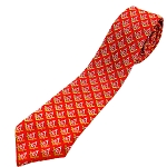 Square & Compass Red & Yellow Tie