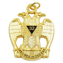 32nd degree double headed eagle scottish rite gold pendantjewel 1 32nd degree double headed eagle scottish rite gold pendantjewel 1 12 tall aloadofball Images