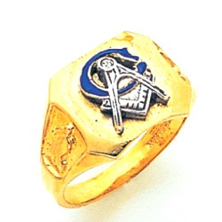 Blue Lodge Ring MAS1082BL