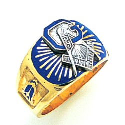 Blue Lodge Ring MAS1227BL