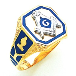 Blue Lodge Ring MAS1442BL