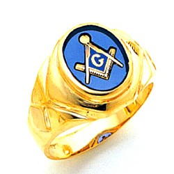 Blue Lodge Ring MAS1744BL