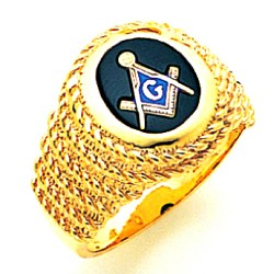 Blue Lodge Ring MAS60998BL
