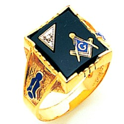 Blue Lodge Ring MAS72021BL