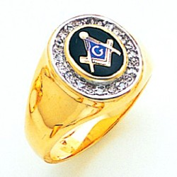 Blue Lodge Ring MAS72059BL