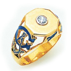 Blue Lodge Ring MAS812BL