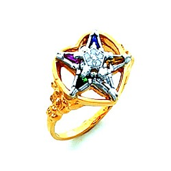 Order of the Eastern Star Ring HOM447ES