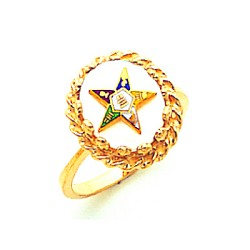 Order of the Eastern Star Ring Mother of Pearl MAS57358