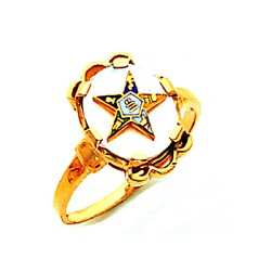 Order of the Eastern Star Ring Mother of Pearl MAS57359