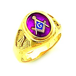 Gold Plated Blue Lodge Ring MASCJ60139