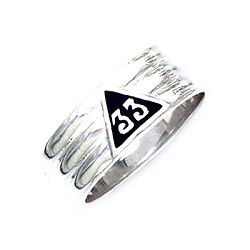 Sterling Silver Scottish Rite Ring MASCJ1148