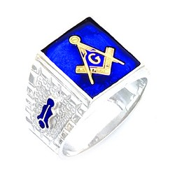 Sterling Silver Blue Lodge Ring MASCJ597