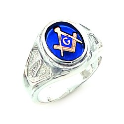 Sterling Silver Blue Lodge Ring MASCJ60139