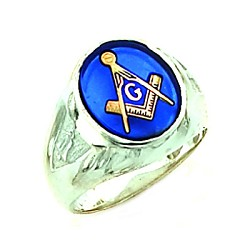 Sterling Silver Blue Lodge Ring MASCJ802